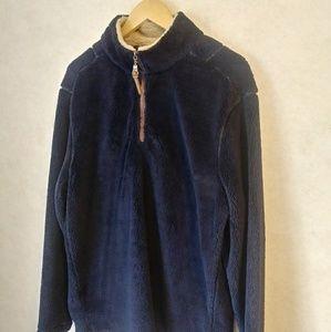 True Grit Navy Blue Fleece Pullover sz L